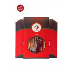 Pack 15 sobres de jamón de cebo de campo ibérico 50% raza ibérica