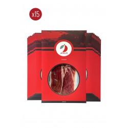 Pack 15 sobres de jamón de bellota 100& ibérico